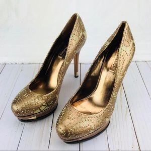 BCbGMAXARIZA Rose Gold Platform Heels Sz10